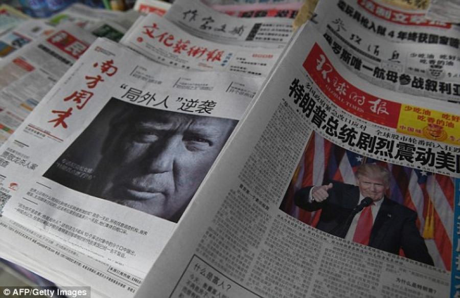 """БНХАУ, Д.Трамптай хэвлэлээр """"байлдлаа"""""""
