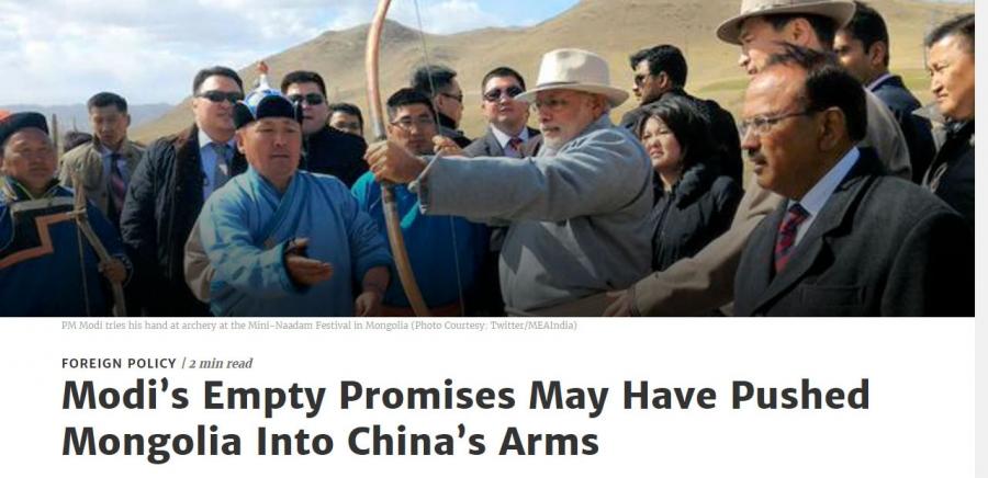 Н.Модигийн хоосон амлалтууд Монголыг Хятадын гарт оруулж болзошгүй