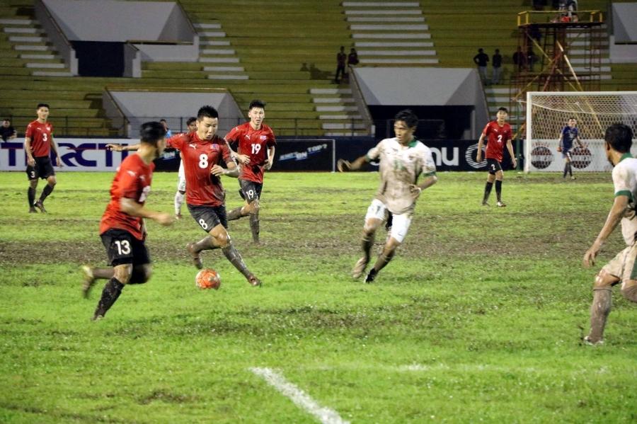 Манай хөлбөмбөгчид Индонезийн эсрэг хүчтэй өрсөлдөөн үзүүллээ