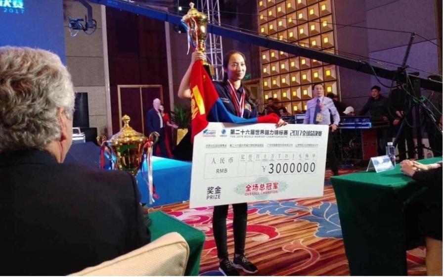 Н.Мөнхшүр 100 мянган ам.долларын шагналын сантай тэмцээнд түрүүллээ