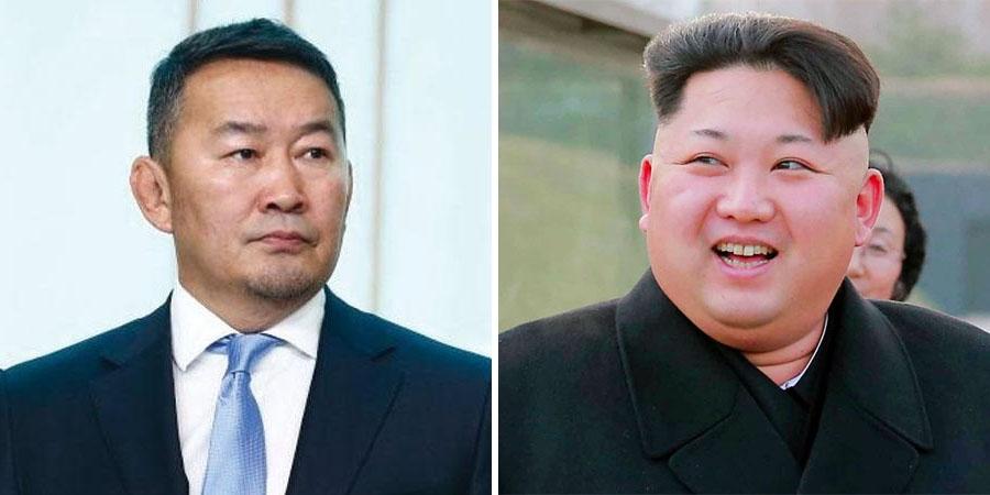 Ерөнхийлөгч Х.Баттулга, Ким Жон Унд захидал илгээв