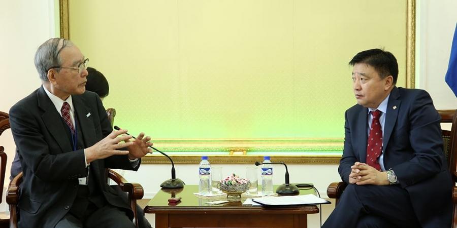 Японы ардын дипломатын нийгэмлэгийн дэд ерөнхийлөгчийг хүлээн авч уулзлаа