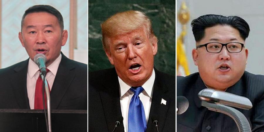 Ерөнхийлөгч Х.Баттулга Д.Трамп, Ким Жон Ун нарт илгээлт явууллаа