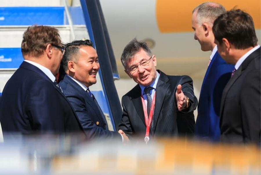 ФОТО: Ерөнхийлөгч Х.Баттулга Владивосток хотод ирлээ