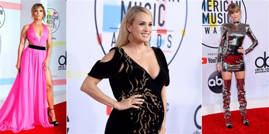 """""""American Music Awards"""" наадмын улаан хивсний ёслолын зургууд"""