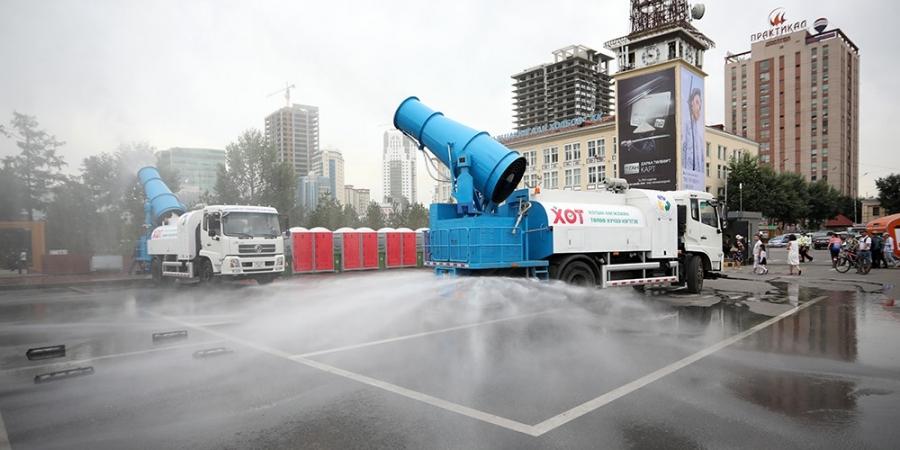 Агаар чийгшүүлэх, авто зам угаах зориулалтын автомашиныг ТҮК-д хүлээлгэн өглөө
