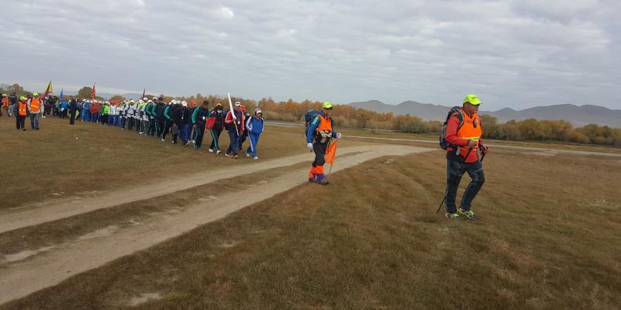 Нийслэлийн иргэдийн спортын VIII наадмын cпорт явган аялалын тэмцээн боллоо