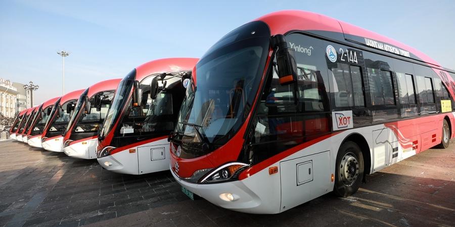Америк Германы хамтарсан технологиор үйлдвэрлэсэн цахилгаан автобус иргэдэд үйлчилнэ