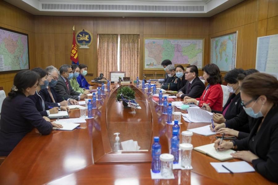 НҮБ-ын Суурин зохицуулагч, ДЭМБ-ын Суурин төлөөлөгч нарыг хүлээн авч уулзав