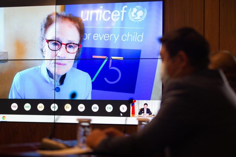 Ерөнхийлөгч У.Хүрэлсүх НҮБ-ын Хүүхдийн сангийн Гүйцэтгэх захирал Х.Фор-той цахим уулзалт хийв