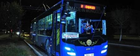Шөнийн нийтийн тээвэр гурван чиглэлд үйлчилж байна