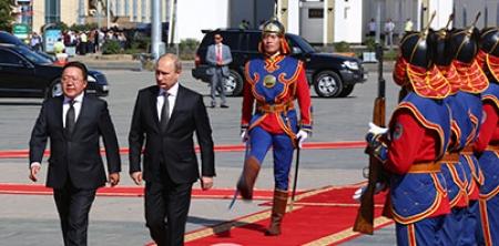 ОХУ-ын ерөнхийлөгч В.Путиныг угтан авах ёслол Чингисийн талбайд болж байна
