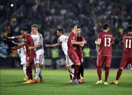 Албани, Сербийн шигшээ багийн тоглолтын үеэр зодоон болжээ