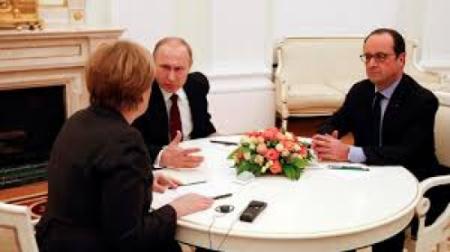 ОХУ, Герман, Францын удирдагч нар Украйны хямралын асуудлаар уулзалдав