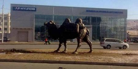 """""""Торгоны зам"""" тэмээн баримлын цогцолбор барьж байна"""