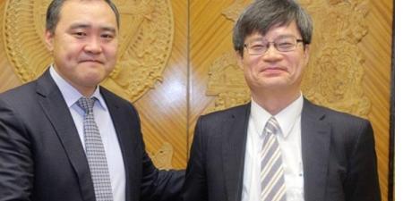 БСШУ-ны сайд Л.Гантөмөр Нобелийн шагналт, эрдэмтэн Амоно Хирошиг хүлээн авч уулзлаа
