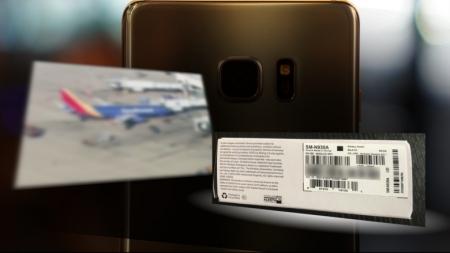 """Сольсон """"Galaxy Note 7""""-оос ч утаа гарч, шатжээ"""