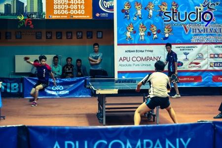 Ширээний теннисний олон улсын тэмцээн болж байна