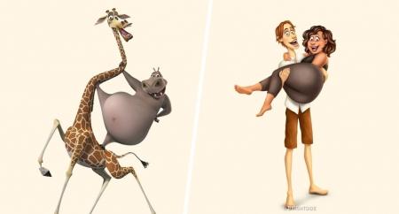 ФОТО: Хүүхэлдэйн баатрууд хэрвээ хүн байсан бол...
