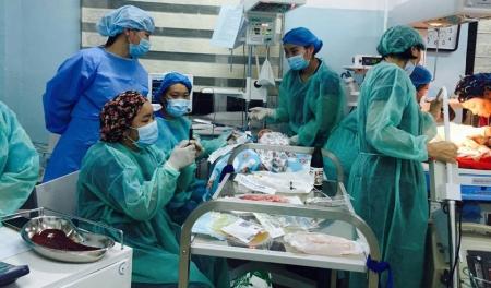 Орон нутгийн эмч нар цус сольж, ихэр охидын амийг аварчээ