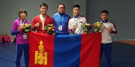 Самбо бөхийн тамирчид ДАШТ-ээс дөрвөн медаль хүртээд байна