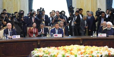 МУ-ын Ерөнхийлөгч Х.Баттулга ШХАБ-ын төлөөлөгчдийн тэргүүн нарын өргөтгөсөн хуралдаанд оролцож байна