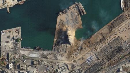Бейрутын дэлбэрэлт: Өмнө ба дараа сансраас