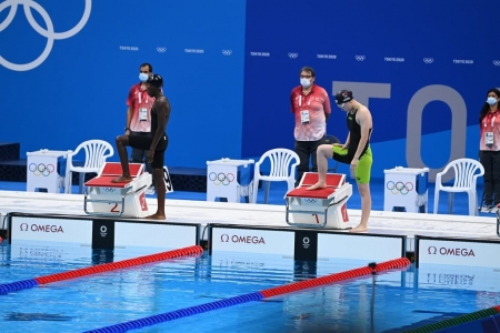 Б.Энххүслэн олимпийн усан замд улсынхаа рекордыг шинэчлэн тогтоолоо