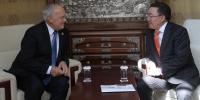 Ерөнхийлөгч Ц.Элбэгдорж Швейцарь Улсын Ерөнхийлөгчтэй уулзав