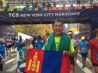 Нью-Йоркийн марафонд Монгол тамирчин гуравдугаар байр эзлэв