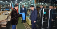 Астана хотод Монгол сайдыг алд  цэнхэр хадагтай угтав