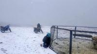 Говь-Алтай аймгийн Чандмань суманд цасаар шуурчээ