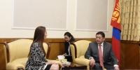 УИХ-ын гишүүн М.Энхболд ОУПХ-ны Ерөнхийлөгчтэй уулзаж, хамтын ажиллагааны чиглэлээр санал солилцлоо