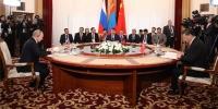 МУ-ын Ерөнхийлөгч Х.Баттулга гурван улсын төрийн тэргүүн нарын тав дахь удаагийн уулзалтыг даргалж, үг хэллээ