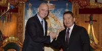 Олон улсын хөлбөмбөгийн холбооны ерөнхийлөгч Жианни Инфантиног хүлээн авч уулзлаа