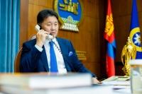 Ерөнхийлөгч У.Хүрэлсүх, ОХУ-ын Ерөнхийлөгч В.В.Путин нар утсаар ярив