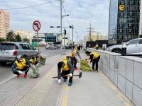 Имартынхан нийтийн эзэмшлийн гудамж талбайг цэвэрлэлээ